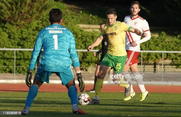Ruben Freitas of CD Mafra in action during the Liga Pro match between CD Mafra and UD Vilafranquense at Estadio do Parque Desportivo Municipal de...