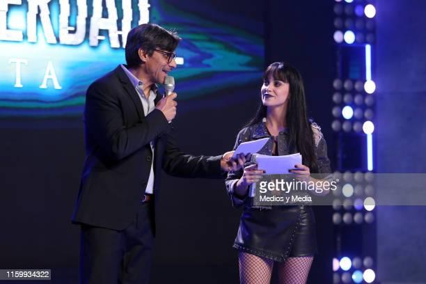Ruben Galindo and Ligia Uriarte during 'Sin Miedo a la Verdad' Presents Season 2 at Televisa San Angel on July 3 2019 in Mexico City Mexico