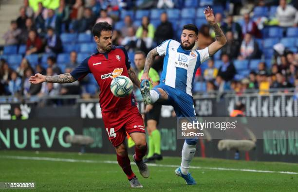 Ruben Garcia and Pipa during the match between RCD Espanyol and Club Atletico Osasuna corresponding to the week 15 of the Liga Santander on 01rst...