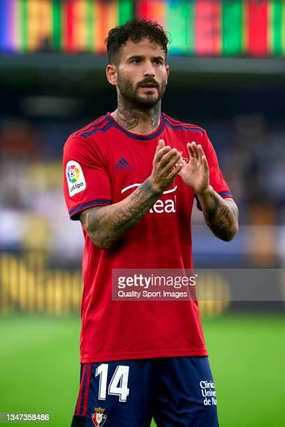 Ruben Garcia of CA Osasuna acknowledges the fans prior to the La Liga Santander match between Villarreal CF and CA Osasuna at Estadio de la Ceramica...