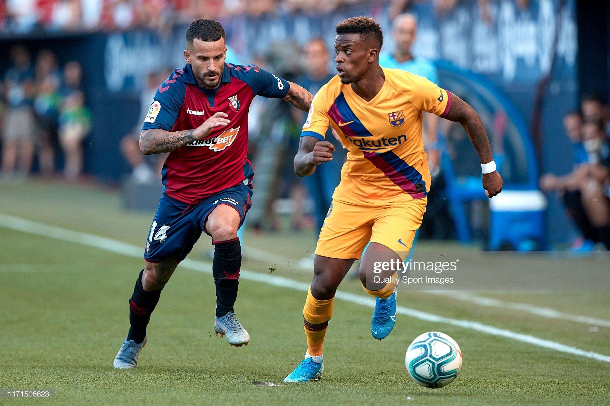 صور مباراة : أوساسونا - برشلونة 2-2 ( 31-08-2019 )  Ruben-garcia-of-ca-osasuna-competes-for-the-ball-with-nelson-semedo-picture-id1171508623?s=2048x2048