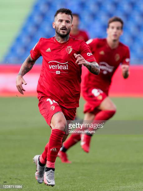 Ruben Garcia of CA Osasuna during the La Liga Santander match between Getafe v Osasuna at the Coliseum Alfonso Perez on September 19 2020 in Getafte...
