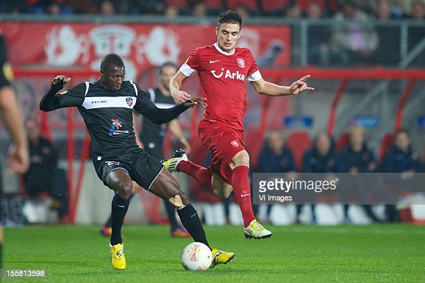 Ruben Garcia of Levante UD Dusan Tadic of FC Twente during the Europa League match between FC Twente and Levante UD at the Grolsch Veste on November...