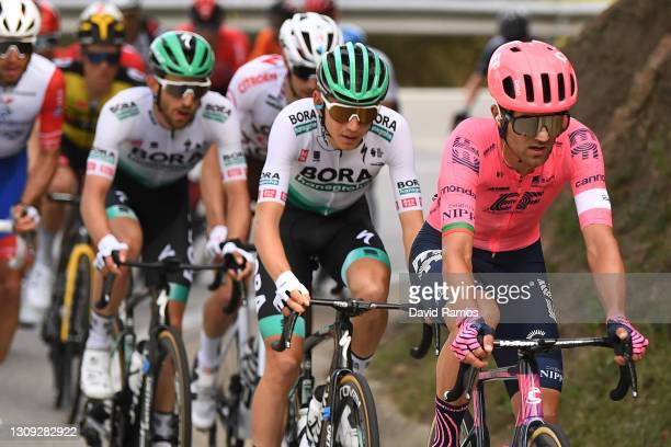 Ruben Guerreiro of Portugal and Team EF Education - Nippo & Lennard Kämna of Germany and Team BORA - Hansgrohe during the 100th Volta Ciclista a...