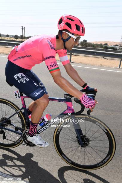 Ruben Guerreiro of Portugal and Team EF Education-Nippo during the 3rd UAE Tour 2021, Stage 3 a 166km stage from Al Ain - Strata Manufacturing to...