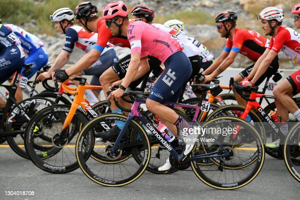 Ruben Guerreiro of Portugal and Team EF Education-Nippo during the 3rd UAE Tour 2021, Stage 5 a 170km stage from Fujairah Marine Club to Jebel Jaison...