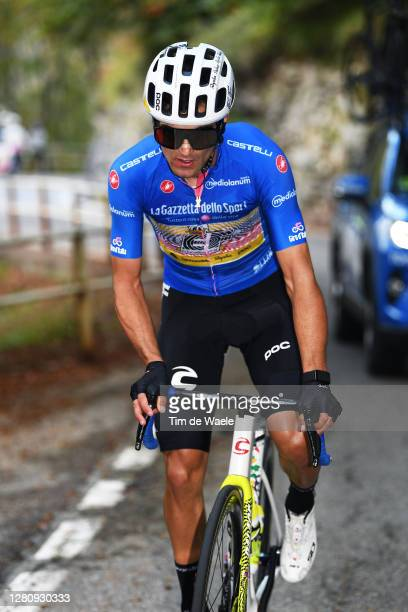Ruben Guerreiro of Portugal and Team EF Pro Cycling Blue Mountain Jersey / during the 103rd Giro d'Italia 2020, Stage 15 a 185km stage from Base...