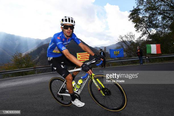 Ruben Guerreiro of Portugal and Team EF Pro Cycling Blue Mountain Jersey / Sella Chianzutan / during the 103rd Giro d'Italia 2020, Stage 15 a 185km...