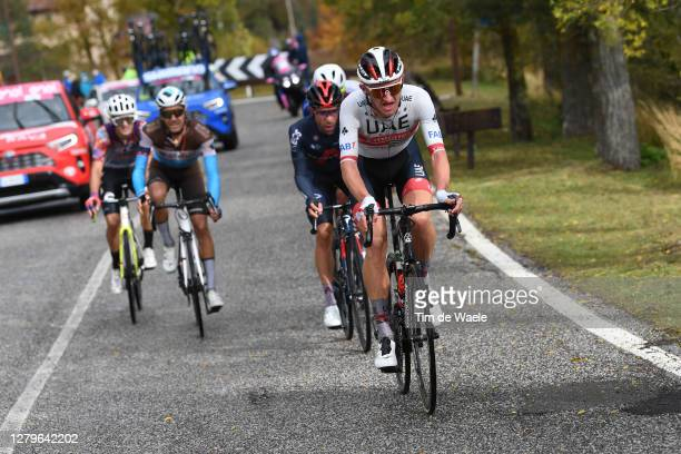 Ruben Guerreiro of Portugal and Team EF Pro Cycling / Larry Warbasse of The United States and Team Ag2R La Mondiale / Jonathan Castroviejo of Spain...