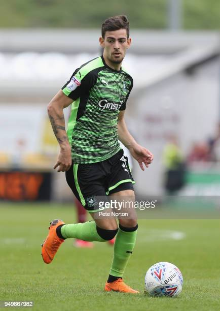 Ruben Lameiras of Plymouth Argyle in action during the Sky Bet League One match between Northampton Town and Plymouth Argyle at Sixfields on April 21...