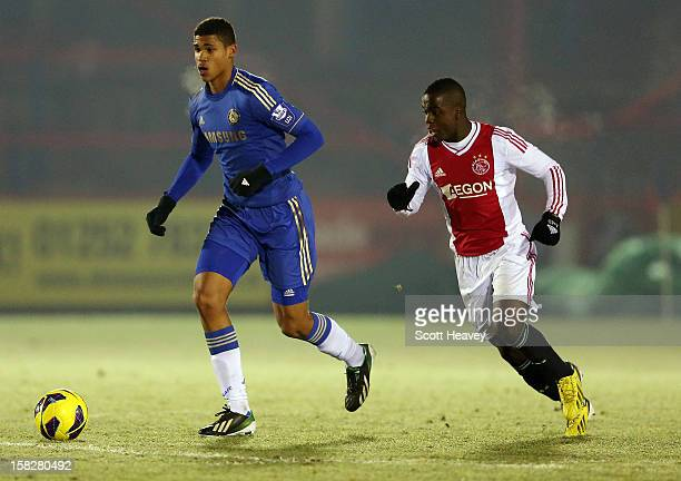 Ruben Loftus Cheek of Chelsea in action during the NextGen Series match between Chelsea U19 and Ajax U19 on December 12 2012 in Aldershot England