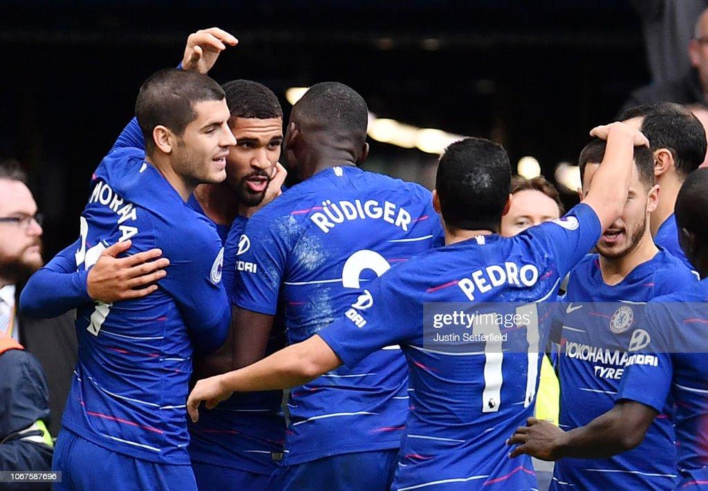 Chelsea FC v Fulham FC - Premier League : Foto jornalística