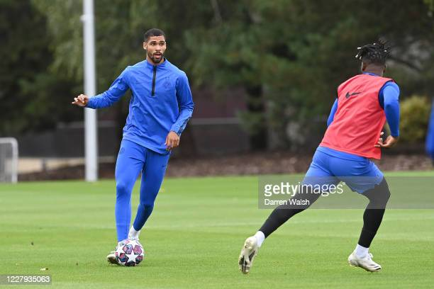 Ruben LoftusCheek of Chelsea during a training session at Chelsea Training Ground on August 6 2020 in Cobham England