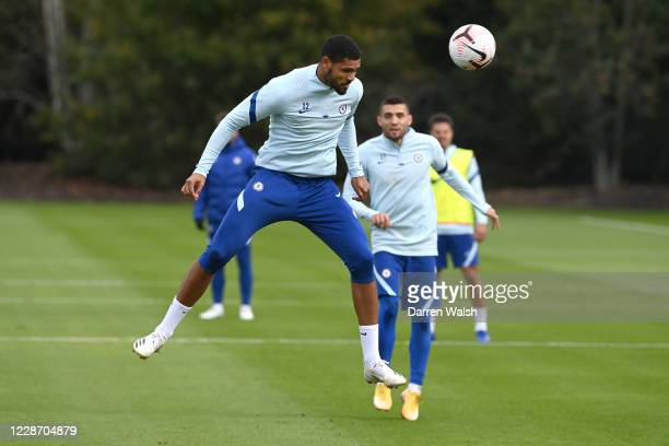 Ruben LoftusCheek of Chelsea during a training session at Chelsea Training Ground on September 25 2020 in Cobham England