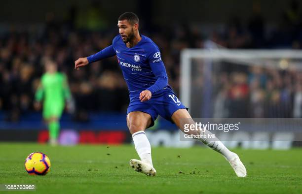 Ruben LoftusCheek of Chelsea during the Premier League match between Chelsea FC and Leicester City at Stamford Bridge on December 22 2018 in London...