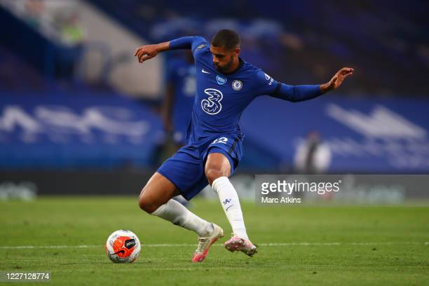 Ruben LoftusCheek of Chelsea during the Premier League match between Chelsea FC and Norwich City at Stamford Bridge on July 14 2020 in London United...