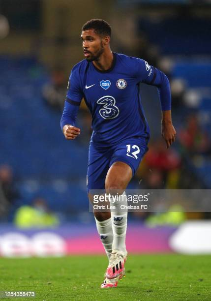 Ruben LoftusCheek of Chelsea in action during the Premier League match between Chelsea FC and Watford FC at Stamford Bridge on July 04 2020 in London...