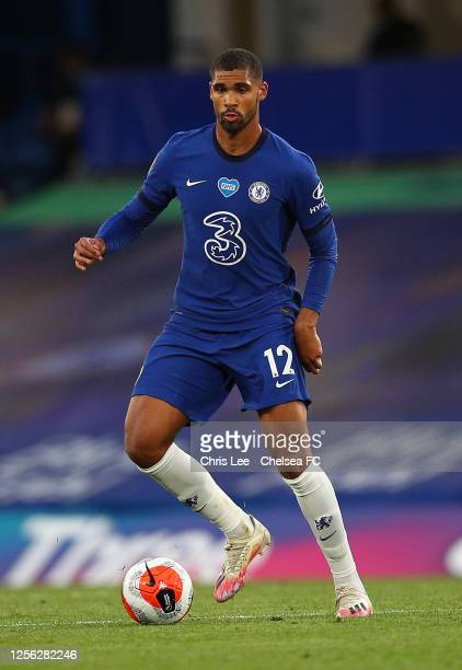 Ruben LoftusCheek of Chelsea in action during the Premier League match between Chelsea FC and Norwich City at Stamford Bridge on July 14 2020 in...