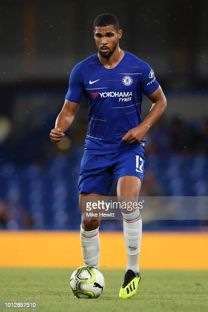 Ruben LoftusCheek of Chelsea in action during the preseason friendly match between Chelsea and Lyon at Stamford Bridge on August 7 2018 in London...