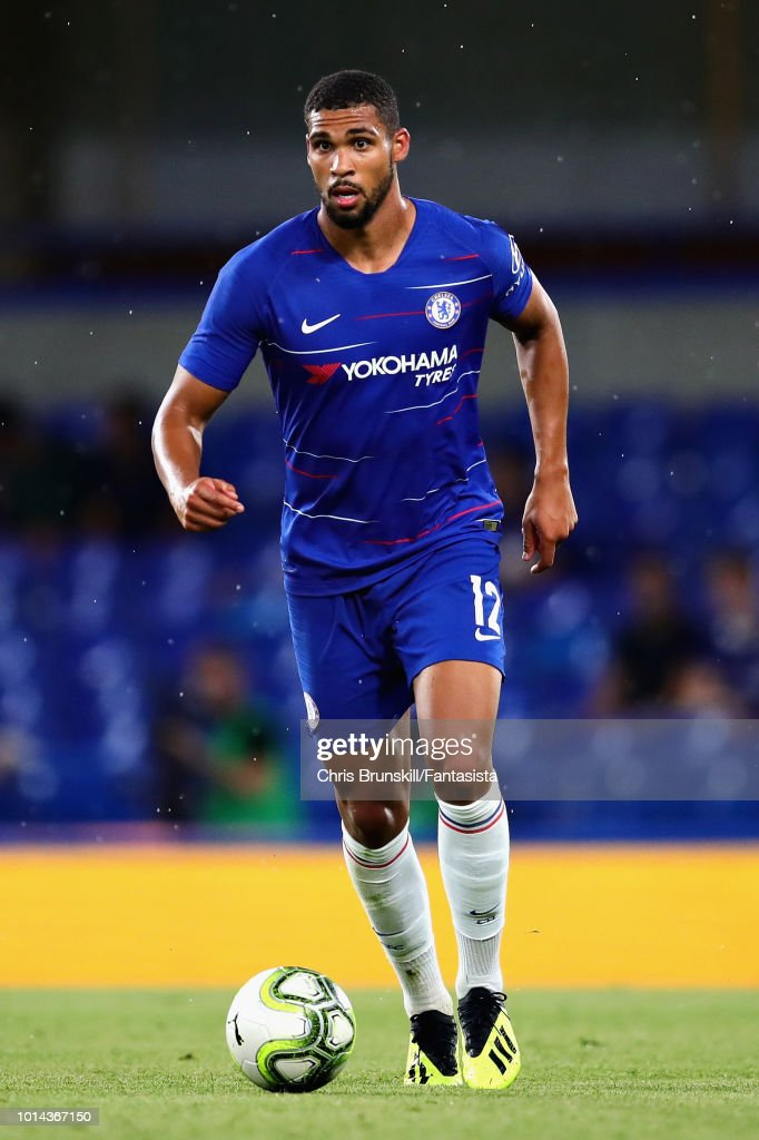 Ruben Loftus-Cheek of Chelsea in action during the pre-season friendly match between Chelsea and Olympique Lyonnais at Stamford Bridge on August 7, 2018 in London, England.