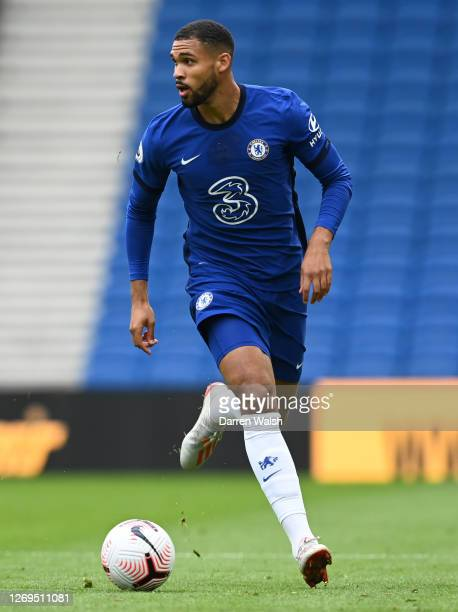 Ruben LoftusCheek of Chelsea in action during the preseason friendly between Brighton Hove Albion and Chelsea at Amex Stadium on August 29 2020 in...