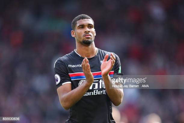 Ruben LoftusCheek of Crystal Palace applauds the fans at full time during the Premier League match between Liverpool and Crystal Palace at Anfield on...