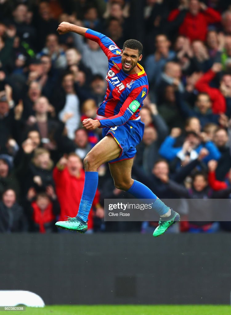 Ruben Loftus-Cheek of Crystal Palace celebrates after scoring his sides third goal during the Premier League match between Crystal Palace and Leicester City at Selhurst Park on April 28, 2018 in London, England.