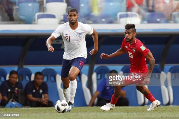 Ruben LoftusCheek of England Anibal Godoy of Panama during the 2018 FIFA World Cup Russia group G match between England and Panama at the Nizhny...