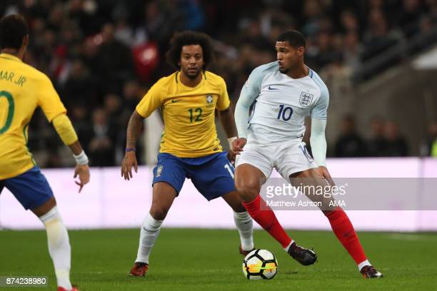 Ruben LoftusCheek of England in action during the international friendly match between England and Brazil at Wembley Stadium on November 14 2017 in...