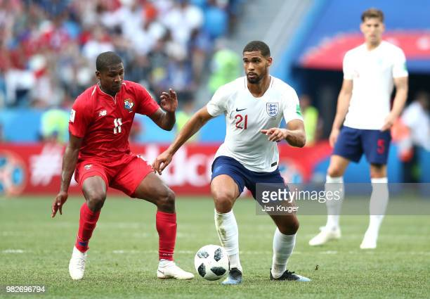 Ruben LoftusCheek of England is challenged by Armando Cooper of Panama during the 2018 FIFA World Cup Russia group G match between England and Panama...