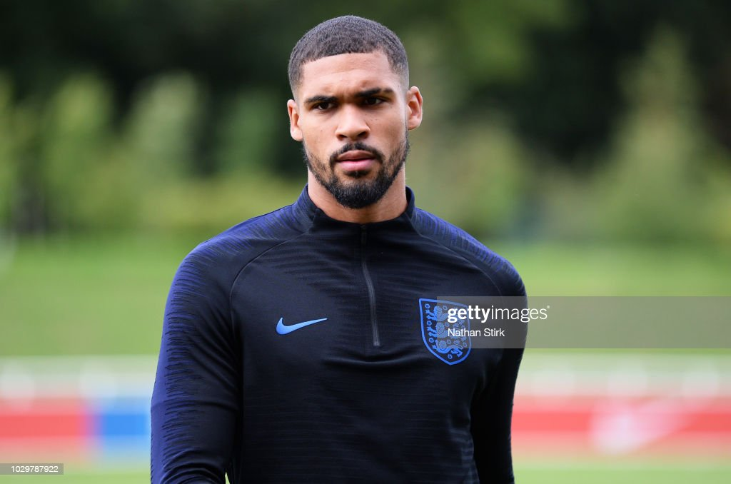 Ruben Loftus-Cheek of England looks on during a England training session at St Georges Park on September 9, 2018 in Burton-upon-Trent, England.