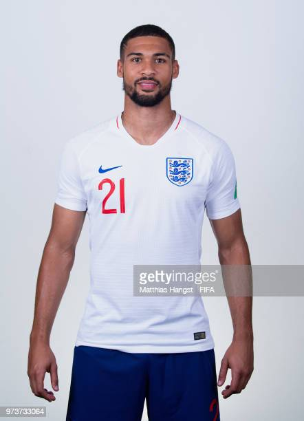 Ruben LoftusCheek of England poses for a portrait during the official FIFA World Cup 2018 portrait session at on June 13 2018 in Saint Petersburg...