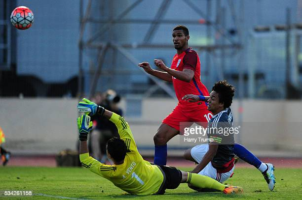 Ruben Loftus-Cheek of England scores his sides third goal during the Toulon Tournament match between Paraguay and England at Stade Antoinr Baptiste...