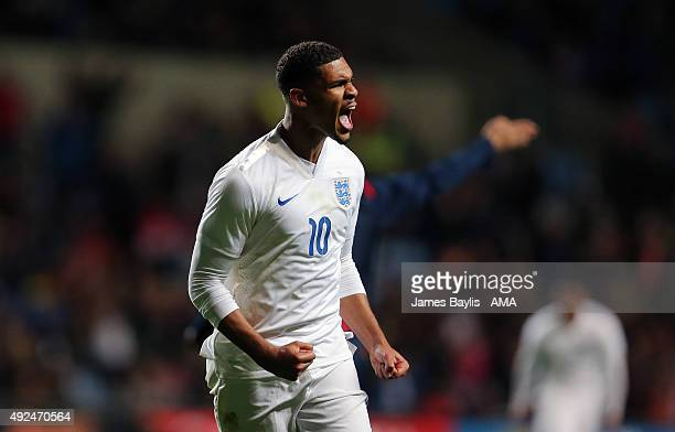 Ruben LoftusCheek of England U21 celebrates after scoring a goal to make it 10 during the European Under 21 Qualifier between England and Kazakhstan...