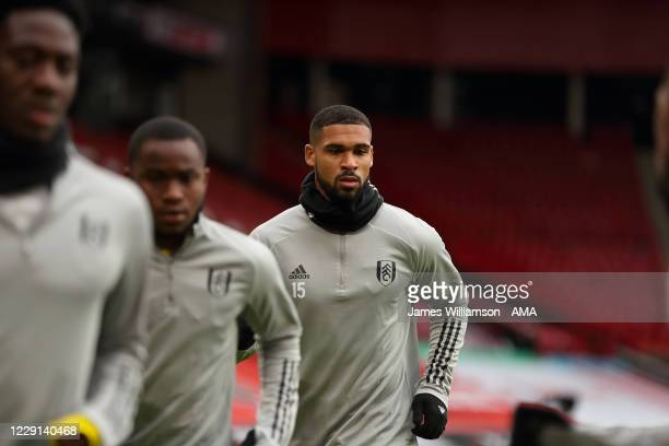Ruben LoftusCheek of Fulham during the warm up before the Premier League match between Sheffield United and Fulham at Bramall Lane on October 18 2020...
