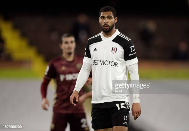 Ruben Loftus-Cheek of Fulham looks on during the Premier League match between Fulham and Leeds United at Craven Cottage on March 19, 2021 in London,...