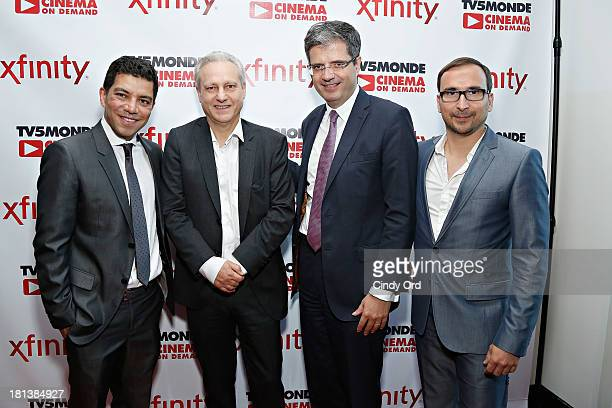 Ruben Mendiola Yves Bigot Francois Delattre and Patrice Courtaban attend the TV5MONDE Cinema On Demand Celebration at A Voce Columbus on September 20...
