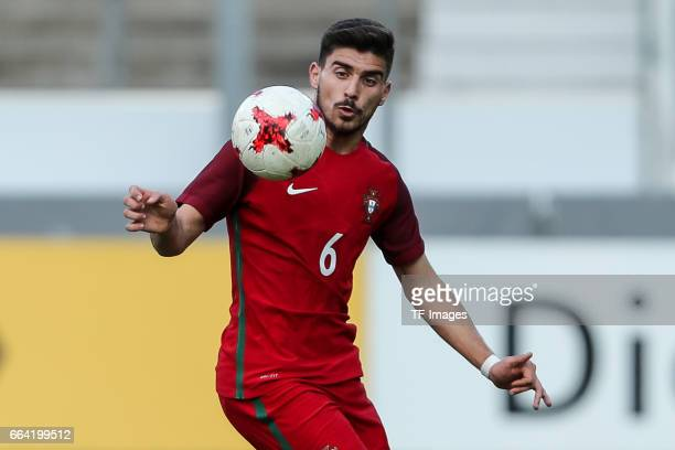 Ruben Neves of Portugal controls the ball during the International Friendly match between Germany U21 and Portugal U21 at GaziStadion on March 28...