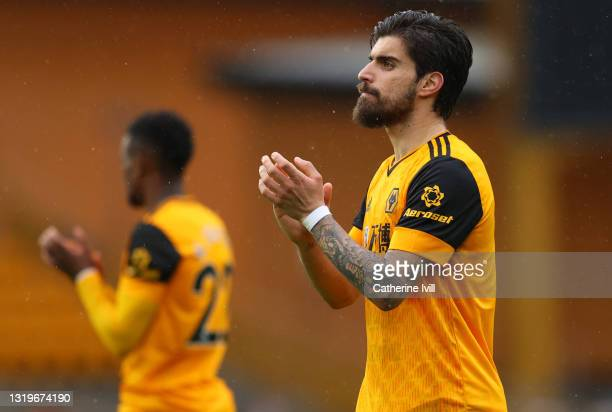 Ruben Neves of Wolverhampton Wanderers applauds after the Premier League match between Wolverhampton Wanderers and Manchester United at Molineux on...