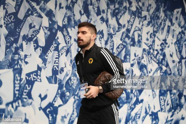 Ruben Neves of Wolverhampton Wanderers arrives at Tottenham Hotspur during the Premier League match between Tottenham Hotspur and Wolverhampton...