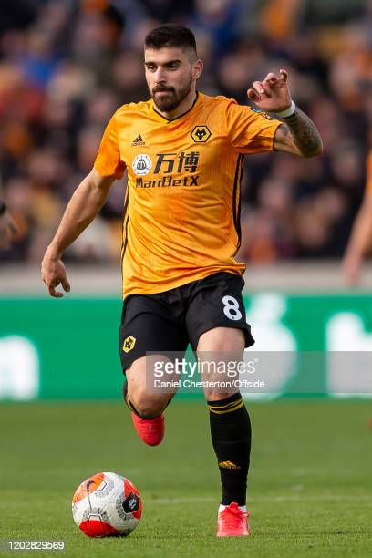 Ruben Neves of Wolverhampton Wanderers during the Premier League match between Wolverhampton Wanderers and Norwich City at Molineux on February 23...