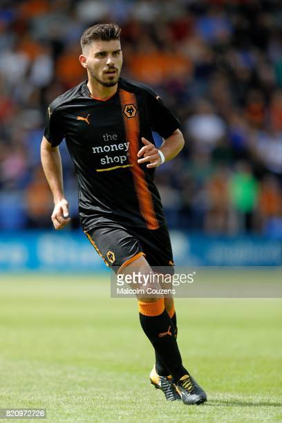 Ruben Neves of Wolverhampton Wanderers during the PreSeason Friendly between Shrewsbury Town and Wolverhampton Wanderers at The Montgomery Waters...