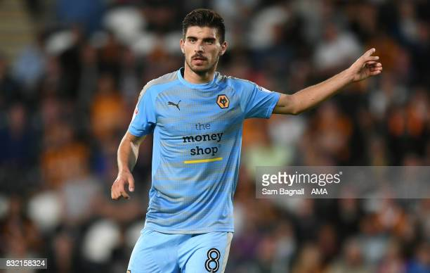 Ruben Neves of Wolverhampton Wanderers during the Sky Bet Championship match between Hull City and Wolverhampton at KCOM Stadium on August 15 2017 in...