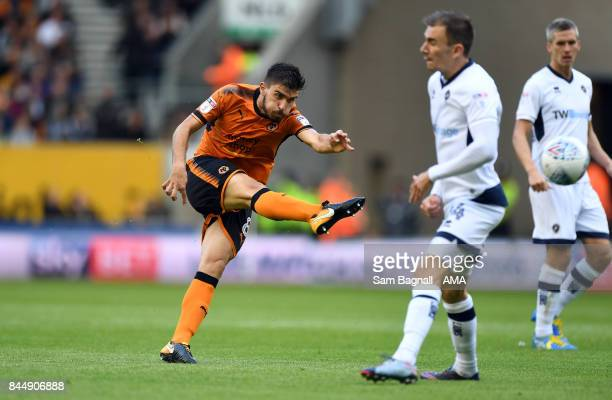 Ruben Neves of Wolverhampton Wanderers during the Sky Bet Championship match between Wolverhampton and Millwall at Molineux on September 9 2017 in...