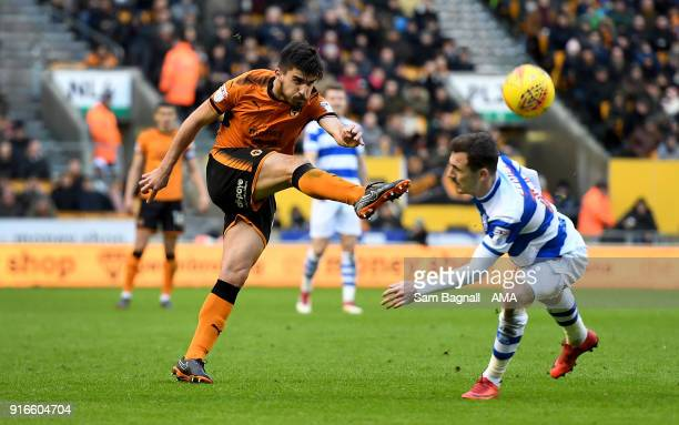 Ruben Neves of Wolverhampton Wanderers during the Sky Bet Championship match between Wolverhampton and Queens Park Rangers at Molineux on February 10...