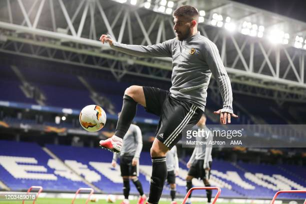 Ruben Neves of Wolverhampton Wanderers during the training session during the training session prior to the UEFA Europa League round of 32 second leg...