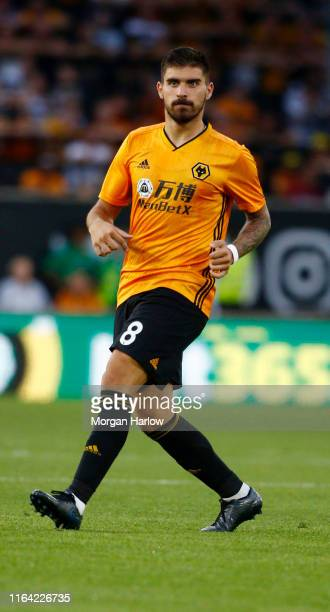 Ruben Neves of Wolverhampton Wanderers FC runs with the ball during the UEFA Europa League Second Qualifying round 1st Leg match between...