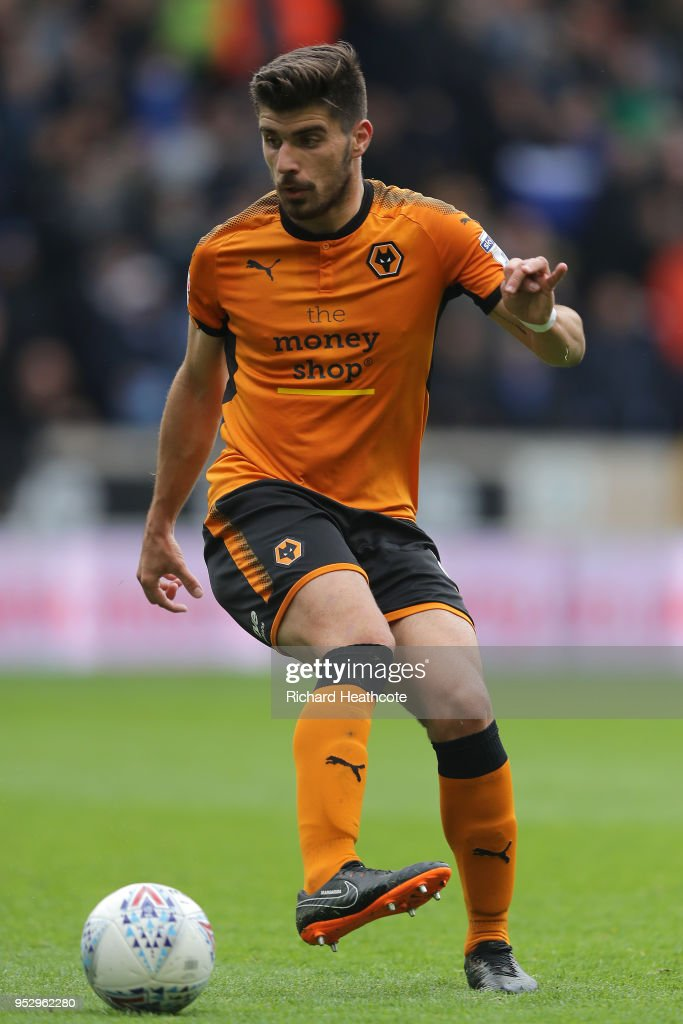 Ruben Neves of Wolverhampton Wanderers in action during the Sky Bet Championship match between Wolverhampton Wanderers and Sheffield Wednesday at Molineux on April 28, 2018 in Wolverhampton, England.