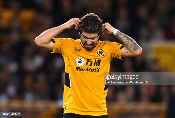 Ruben Neves of Wolverhampton Wanderers looks dejected after missing a penalty in the penalty shoot out during the Carabao Cup Third Round match...