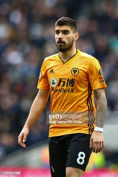 Ruben Neves of Wolverhampton Wanderers looks on during the Premier League match between Tottenham Hotspur and Wolverhampton Wanderers at Tottenham...